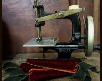 dark burnt orange velvet carrot sewing emery for every seamstress created by Carol Woodard of Woodland Primitives