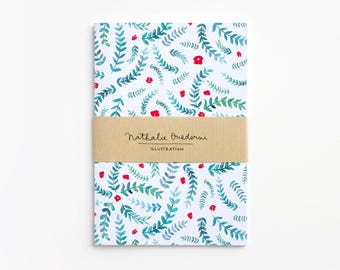 List notebook, watercolor stationery, watercolor paper goods, Watercolor notebook, watercolor journal, watercolor diary, inexpensive gifts