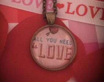 All You Need Is Love Custom Photo Pendant