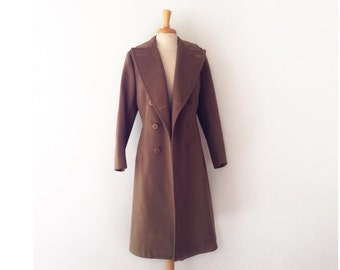 1940s ww2 wool women's overcoat