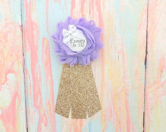 baby shower pin lavender mommy to be mommytobe flower