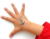 Safety Tattoos,  If Lost, Call, Temporary Tattoo, Emergency Contact Tattoo, Kids Tattoo, Custom Tattoo, Personalized Tattoo, Anchor Tattoo