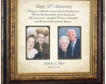 Anniversary Gift, 50 Anniversary Gifts, Parents Anniversary Gift, Golden Anniversary, Anniversary decoration, Anniversary cake topper, 16x16