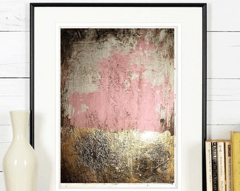 gold leaf Wall Art original  painting , nice abstract painting from listed artist Jolina Anthony