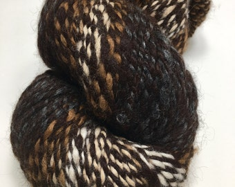 Gorgeous - Handspun Yarn - Baby Alpaca - Huge Skein - 222 yards - Bulky Weight - USA grown