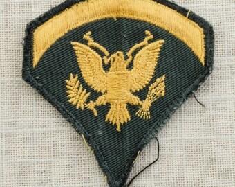 US Army Vintage Patch Military Vietnam Era Specialist 2nd Class E5 Uniform Sew on 6Z