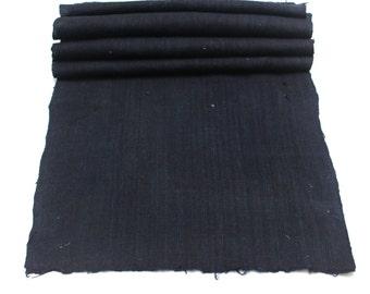 Japanese Indigo Cotton. Artisan Aizome Boro Textile. Blue Vintage Folk Fabric (Ref: 1744)