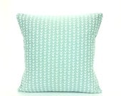Spa Blue/Aqua Decorative Throw Pillow Cover Pillow Cushion Couch Sofa Pillow Euro Sham Bedding Robin Egg Blue Accent Home Decor Vine