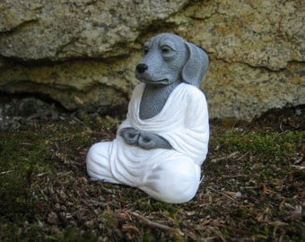 Meditating Dog, Buddha, Dog Buddhas, Meditating Animal, Zen Like Statue, Pet