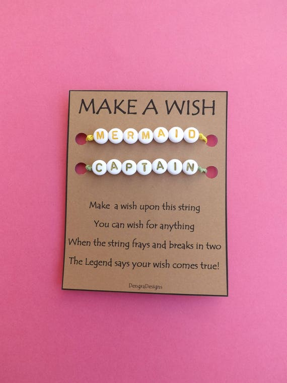 Captain and Mermaid Color Double Wish String