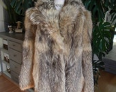RESERVED for T. Coyote / Wolf fur coat / jacket / real fur