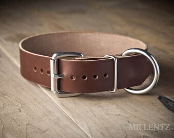 Leather Dog Collar, (dogs 40 to 90 lbs.) , Large Dog Collar, Dog Collar, Dog Collar Leather, Leather Dog Collars 075-L