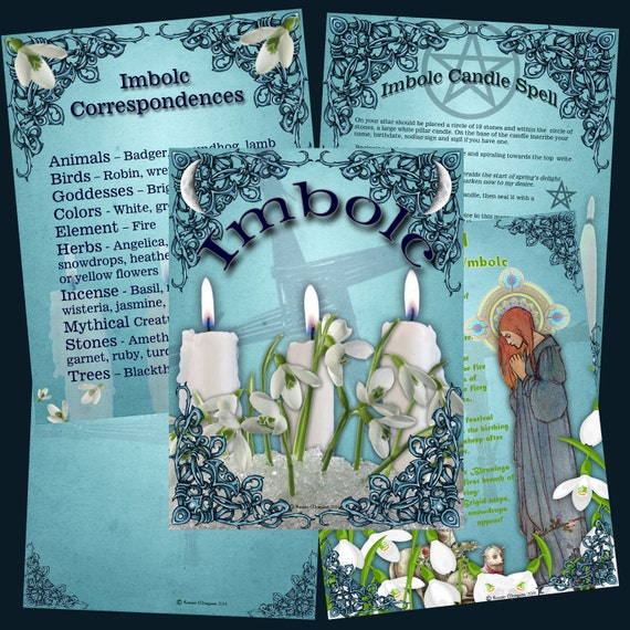 IMBOLC CANDLEMAS Book of Shadows, 5 Pages,Grimoire, Spell, Pagan, Scrapbook, Wiccan, Pagan Ritual, Digital Download,