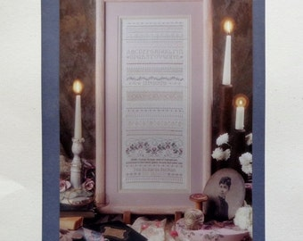 50%OFF Teri Richards Herman Shepherd's Bush ANTIQUE VICTORIAN Sampler Charted Needlework Design Kit - Counted Cross Stitch Pattern Chart