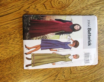 BOHO Princess Seamed V Neck JUMPER Dress - Fit and Flare Gown - Size (14 - 16 - 18) - UNCUT Sewing Pattern Butterick 3966
