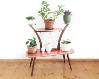 Mid Century Big Display Stand Plant Stand