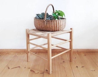 Vintage Wood and Rope Stool