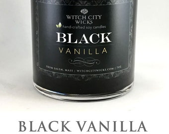 Black candles, BLACK Vanilla, soy candle, soy candles handmade, soy wax candle, scented soy candles, hand poured soy candles, vanilla candle