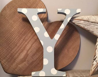 Painted Wooden Letter Y - Large , Georgia Font, 50cm high, almost 20 inch, any colour, wall letter, wall decor, 18mm, price per letter