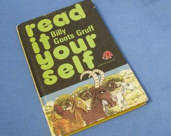 Vintage Ladybird Book Billy Goats Gruff - Read It Yourself Series 777 Level 2 - 1970s Matt Covers