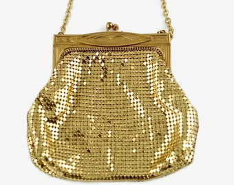 Vintage Whiting and Davis Gold Evening Bag
