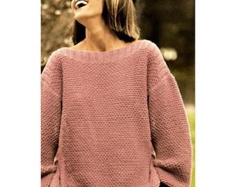 Oversize knitting pattern Etsy UK
