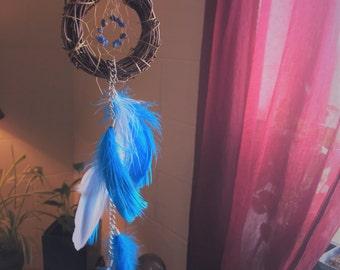 Dreamcatcher Small Dream Catcher Little Blue Dreamcatcher