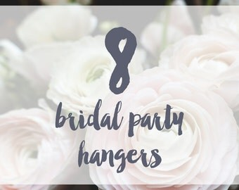 8 Bridal Party Hangers / Bridesmaid Hangers / Maid of Honor / Mother of the Bride / Wire Name Hangers / 5 Hanger Colors / 14 Wire Colors