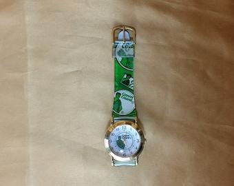 Vintage Jolly Green Giant Watch 1997 Pillsbury promo *eb