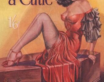 Coffin for a Cutie - 10x15 Giclée Canvas Print of a Vintage Pulp Paperback Cover