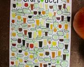 "Craft Beer - Art Print - 8x10"", 11""x14"", 18""x24"" - Wall Art"