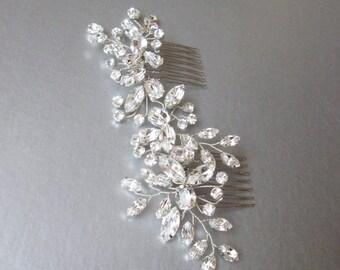 Swarovski crystal hair vine, Bridal comb, Wedding hair Swarovski hair vine, Crystal hair comb, Sparkly bridal head piece