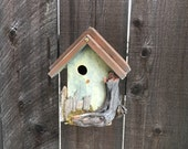 Unique Birdhouses Outdoor Rustic Wooden Bird House Whimsical Hand Painted Functional Birdhouse, Bird Houses For Sale, Item #514983323