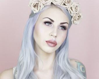 TALIA Mocha Rose Flower Crown - Flowers - Floral Headband