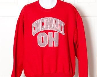 Vintage 90s CINCINNATI OH Sweatshirt - XL