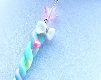 Unicorn Horn Necklace - Pastel