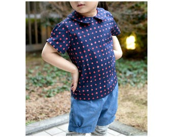 PATTER Shirt and PITTER Shorts pattern Pdf sewing, Baby Boy Girl, Easy Blouse Top, toddler newborn up to 6 yrs