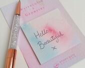 Pretty Watercolour Sticky Notes - Square