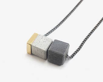 Architectural Necklace, Concrete Necklace, Modern Gift For Architect, Minimal Jewelry Gift