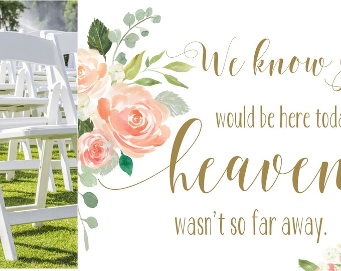 Wedding Memorial Sign | Instant Download | DIY PRINTABLE