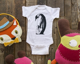 penguin 3 - graphic printed on Infant Baby One-piece, Infant Tee, Toddler T-Shirts - Many sizes