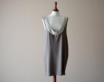 Boho dress, Tank dress, Bohemian dress, Tunic dress, Jumper dress, Jersey dress, Sundress, Brown dress, Lace dress, Women's clothes