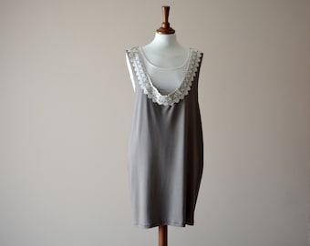 Boho dress, Tank dress, Bohemian dress, Tunic dress, Jumper dress, Jersey dress, Sundress, Brown dress, Lace dress, Women's clothes