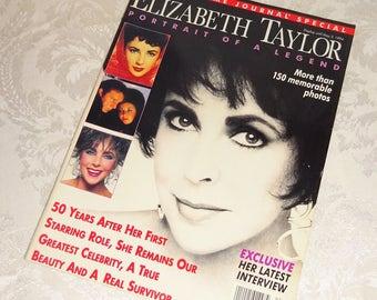 Vintage Liz Taylor Ladies' Home Journal Elizabeth Taylor Magazine 1994 Portrait of a Legend Special Edition