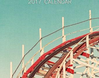 CLEARANCE SALE 2017 Photo Calendar, Along The Boardwalk, 2017 Desk Calendar, Carnival Photography, Boardwalk Surf Decor, 5x7 desk calendar