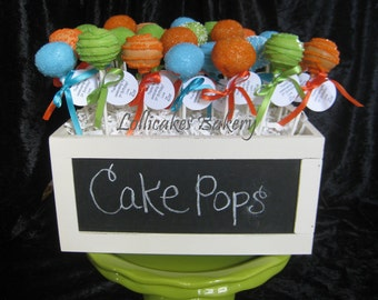 Spring Wedding Party Favors, 1 dozen cake pops made to order
