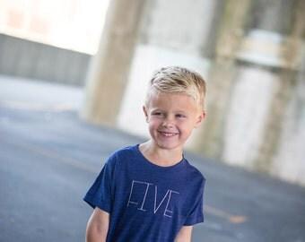 Kids Birthday Shirt- babies, toddlers, children T-shirt- Age Word