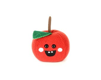 Apple Plush Toy, Apple Plushie, Cute Kawaii Apples, Novelty Soft Toy, Back to school gifts, Granny Smith Apple, Teacher's Gift, Desk Buddy