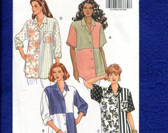 Butterick 6171 Big Shirt is Back & Perfect for Color Blocking  Sizes 8..10..12 UNCUT