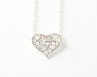 Lace HEART charm necklace << You are CLASSIC.  Setting the standard .... that's you!